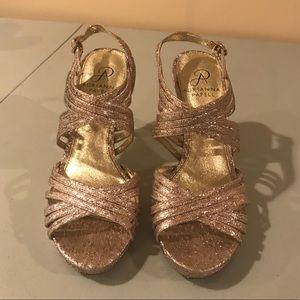 Champagne/rosé color heels